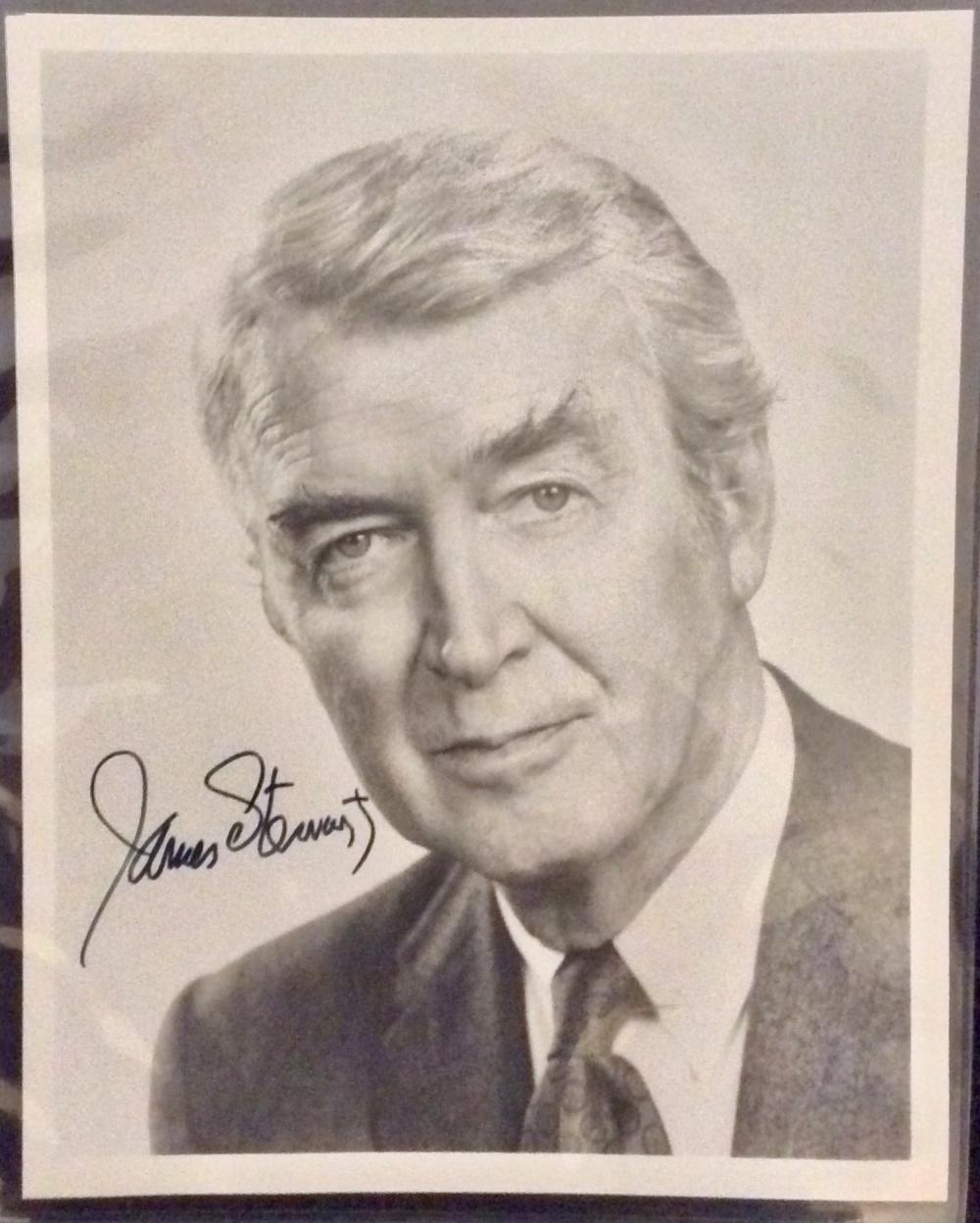 James Stewart 8X10 Autographed Photo of Noted American Actor James Stewart