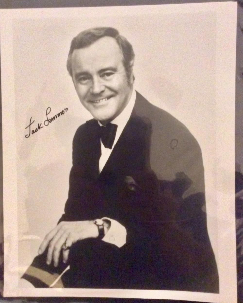 Jack Lemmon 8X10 Autographed Photo of Noted American Actor Jack Lemmon