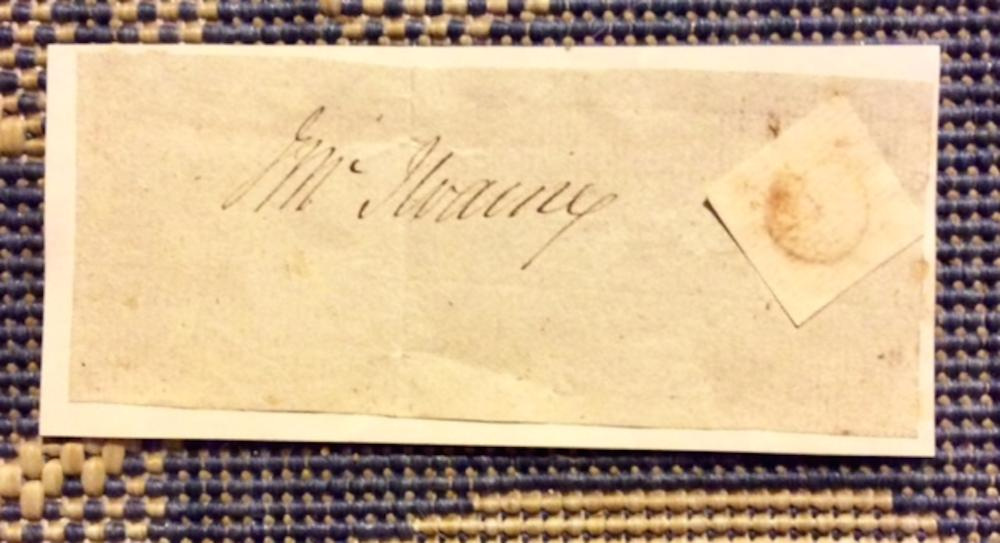 J. McIlvaine ANTIQUE 2 Inch high by 5 Inch wide Clipped Signature Of J. McIlvaine American Senator From NJ