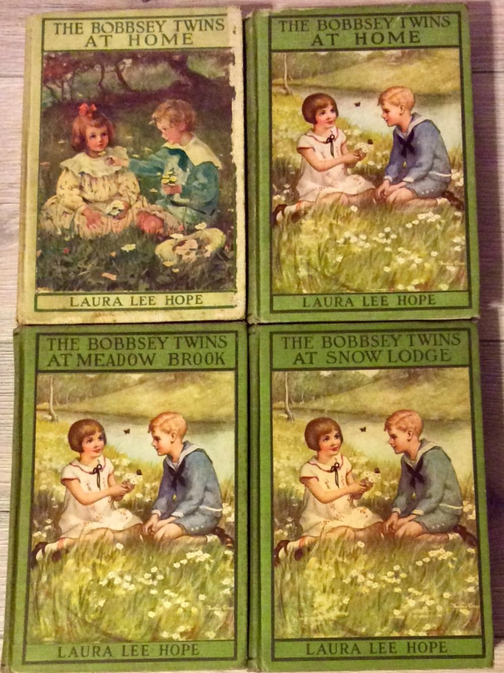 "ANTIQUE (4) Hardcover 1st Edition 1st Printing ""Bobbsey Twins"" Juvenile Series Books"