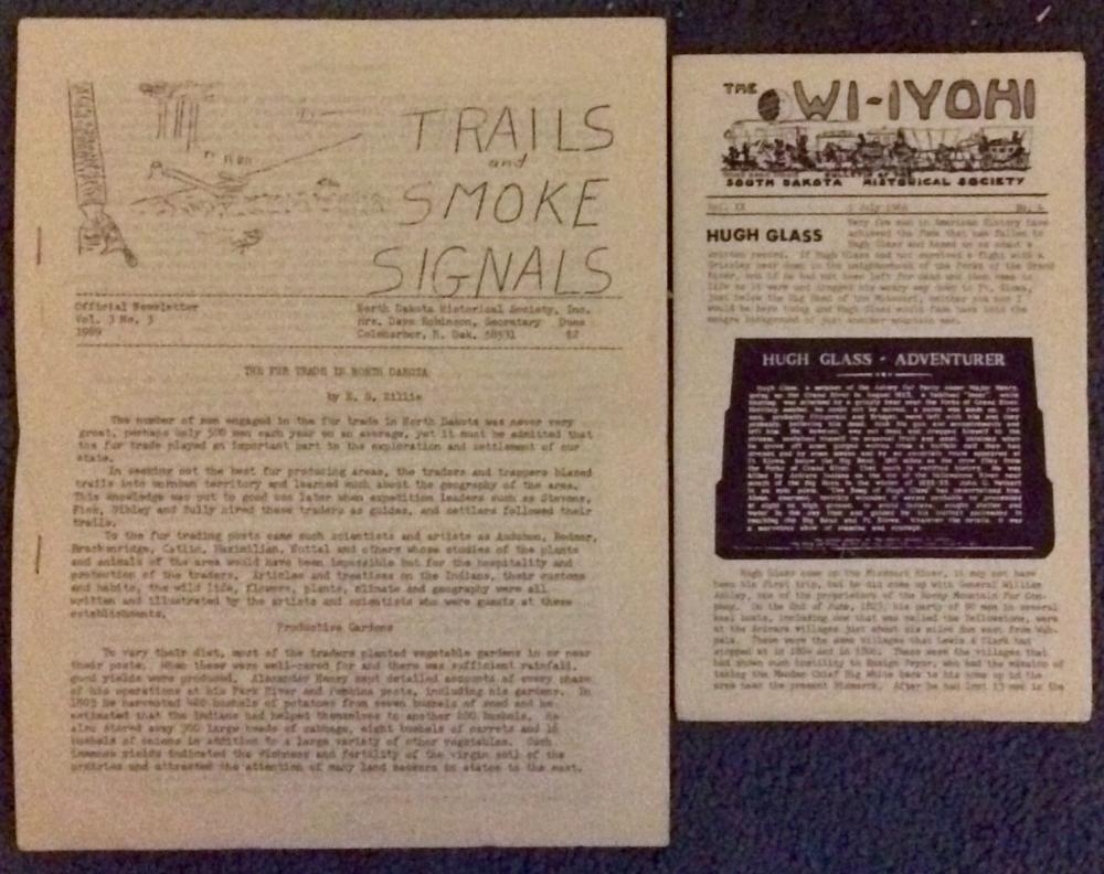 VINTAGE Lot Of (3) 1960s Pieces Of Ephemera On The Early Western Fur Trade
