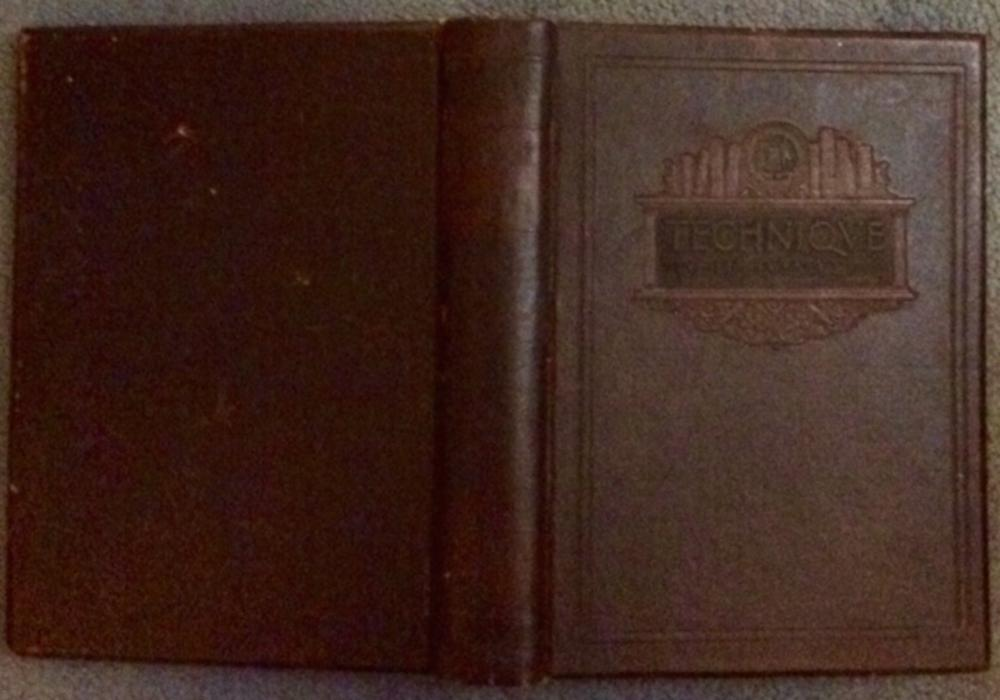 """Technique 1923"" by Massachusetts Institute Of Technology SCARCE ANTIQUE 1923 Leather Hardcover M.I.T. Yearbook For 1923"