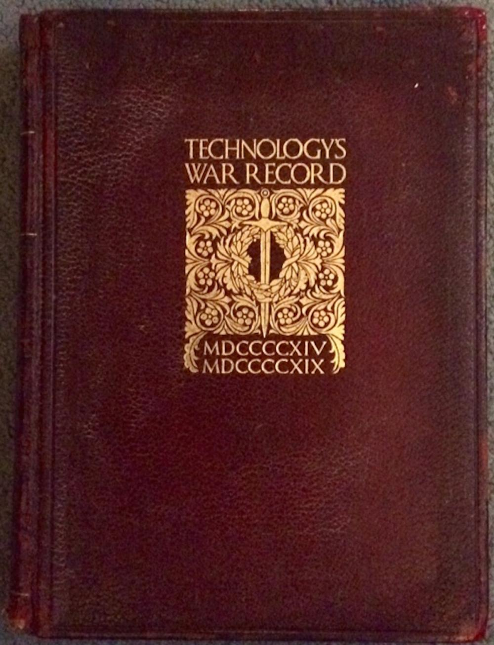 """Technology's War Record"" by Massachusetts Institute Of Technology ANTIQUE 1920 Leather Hardcover M.I.T.'s WWI Contributions 1st Edition 1st Printing"