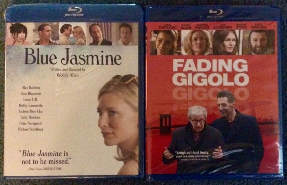 "Lot Of (2) Woody Allen Blu-ray Movies Brand New In Shrink Wrap ""Blue Jasmine"" & ""Fading Gigolo"""