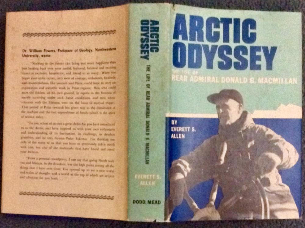 """Arctic Odyssey"" by Everett Allen VINTAGE 1962 Hardcover Arctic Exploration Biography In DJ"