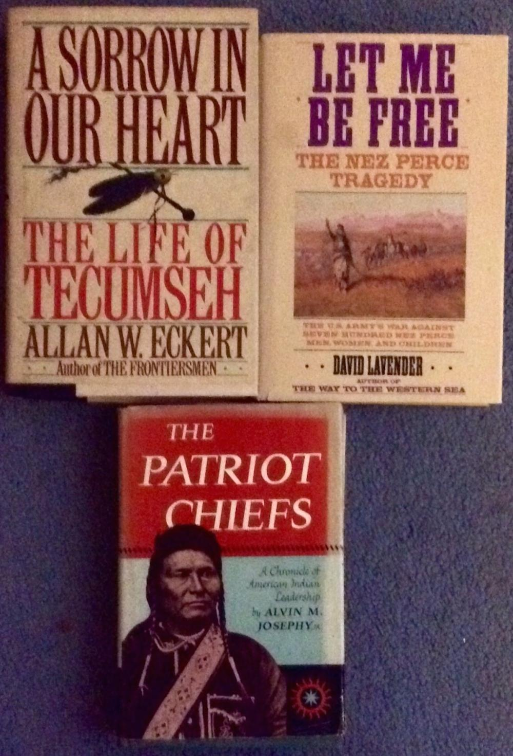 Lot of 3 VINTAGE Indian Wars History Hardcovers (2) are 1st Edition 1st Printings All Are  In DJs