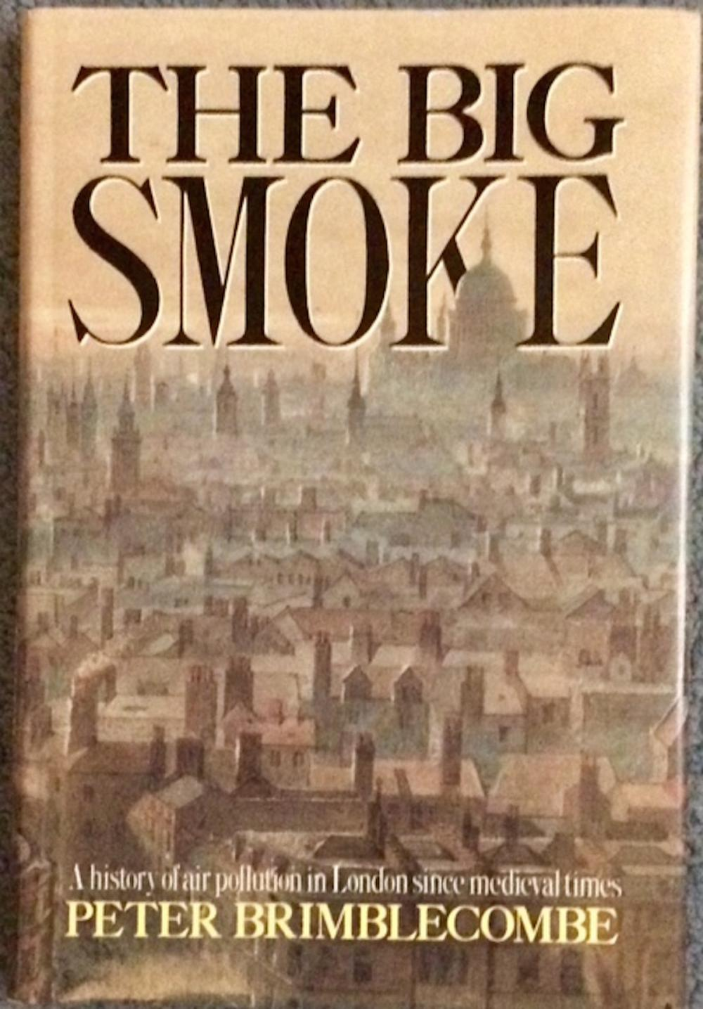 """The Big Smoke"" by Peter Brimblecombe VINTAGE 1987 Hardcover London Air Pollution History 1st Edition 1st Printing Review Copy In DJ"