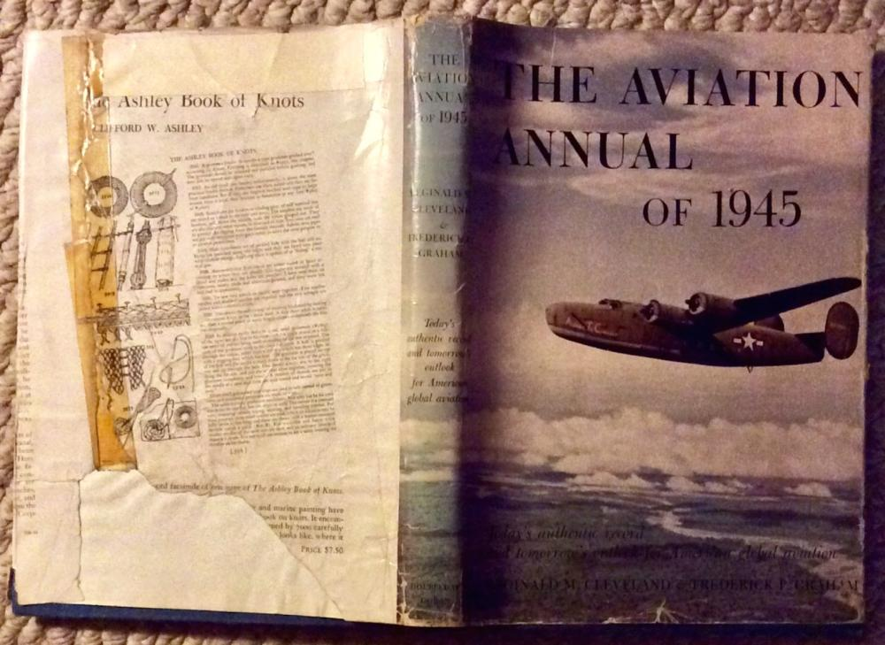"""Aviation Annual Of 1945"" by Reginald Cleveland & Frederick Graham VINTAGE  1945 Hardcover Aviation History 1st Edition 1st Printing In DJ"