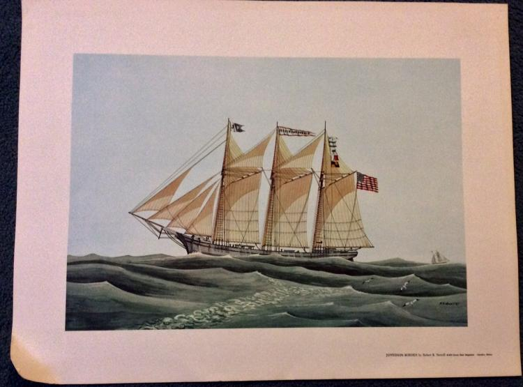 Robert R. Newell Marine Ship Color Print: