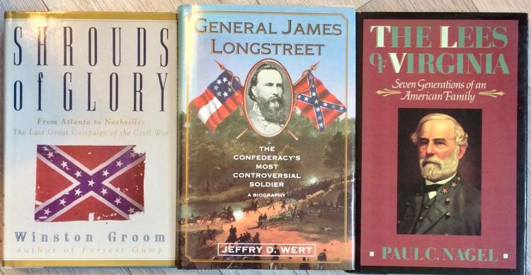 Civil War History Collection Of (3) Hardcovers On Longstreet, Lee, & The Nashville Campaign
