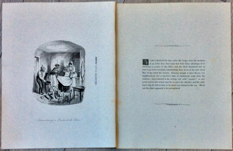 ANTIQUE ORIGINAL c. 1870 John Leech Etching Illustration Approximately 5 inches high X 4 inches wide plus margins