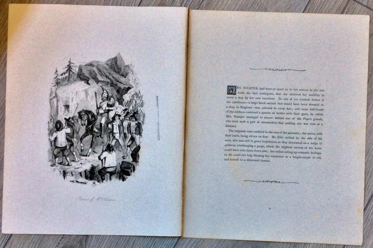 ANTIQUE ORIGINAL c. 1870 John Leech Etching Illustration Approximately 6 inches high X 4 inches wide plus margins