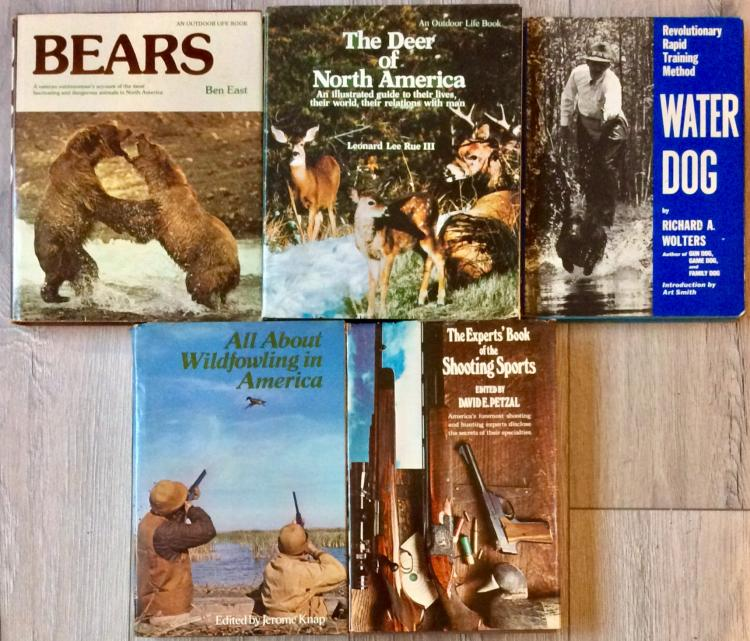 Hunting/Game Animal Collection Of (5) Hardcovers All are in DJs; 3 are 1st Edition 1st Printings