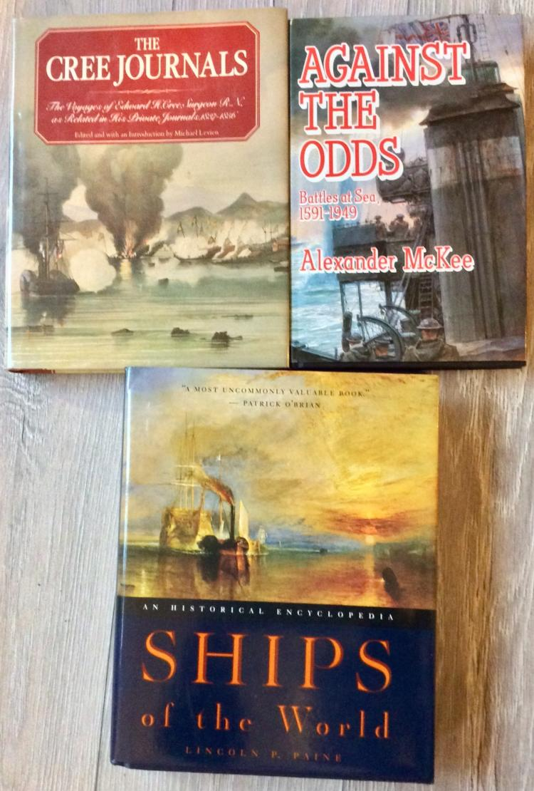 Nautical History/Exploration Collection Of (3) Hardcovers All are in DJs; 2 are 1st Edition 1st Printings