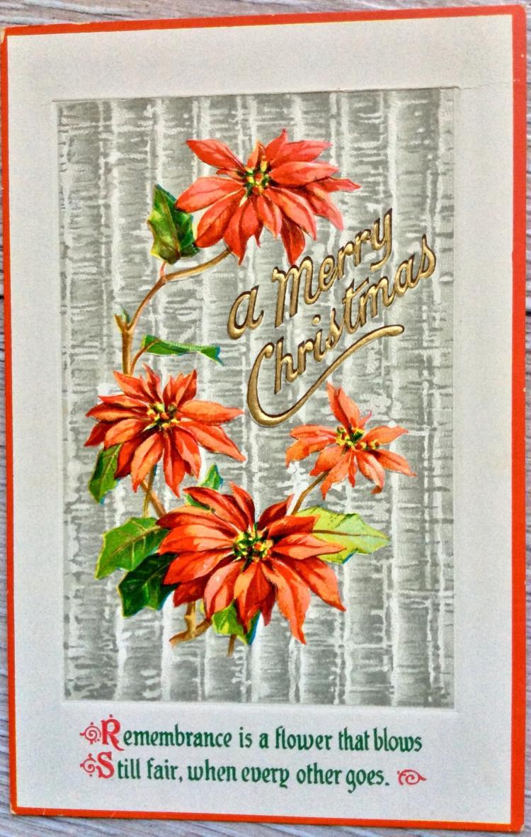UNUSED Christmas 1¢ Color Postcard Die cut embossed illustration Printed In Germany