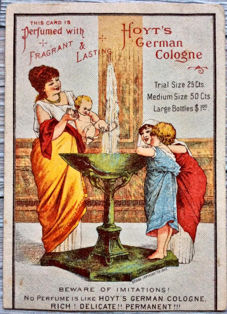 ANTIQUE 19th Century Color Chromolithograph Advertising Card 4 1/2 inches high X 3 1/2 inches wide