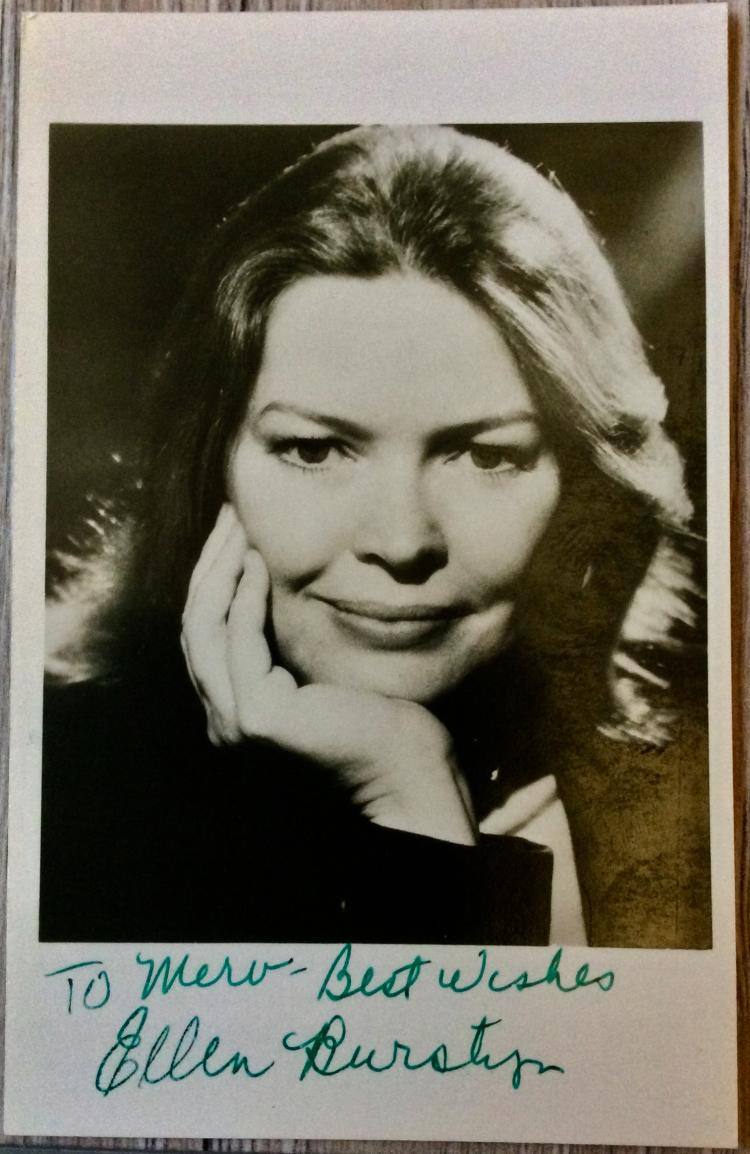 SIGNED PHOTO 4 high X 3 inch wide Of Noted American Actor Ellen Burstyn