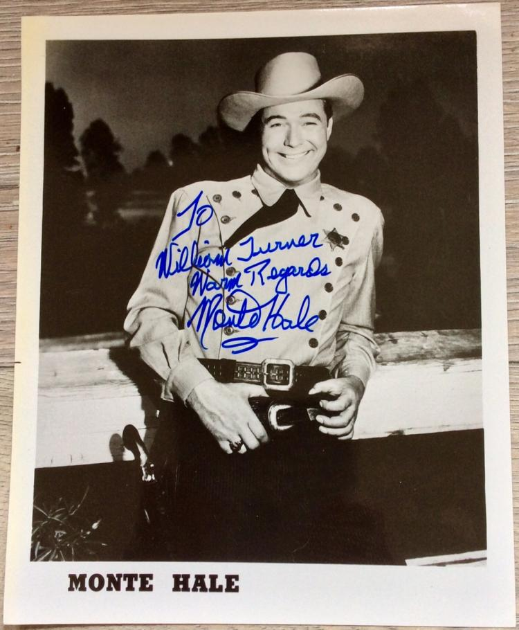 8X10 Autographed Photo of Noted American Actor Monte Hale