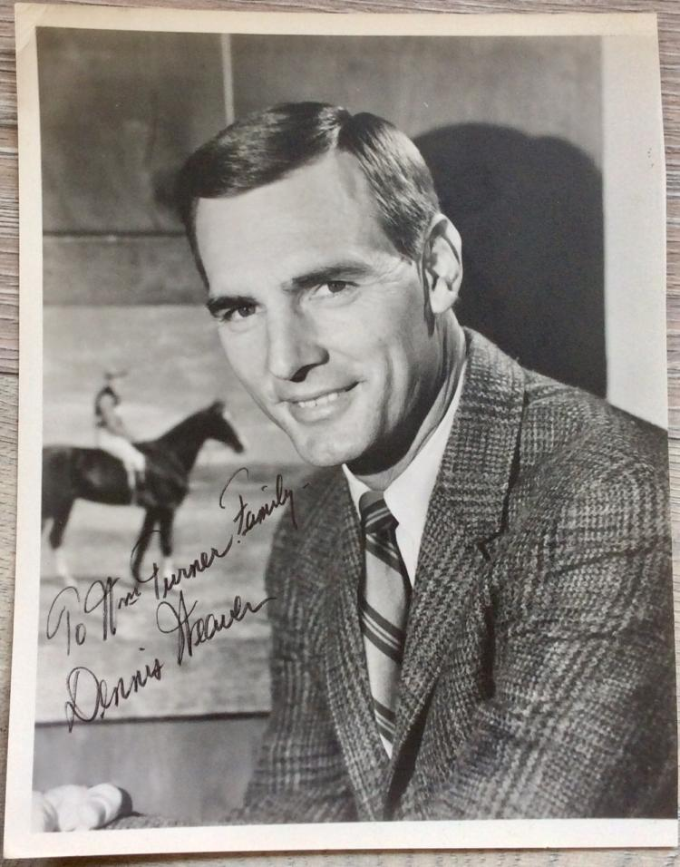 8X10 Autographed Photo of Noted American Actor Dennis Weaver