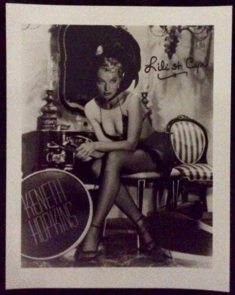 8X10 Autographed Photo of Noted American Entertainer Lili St. Cyr