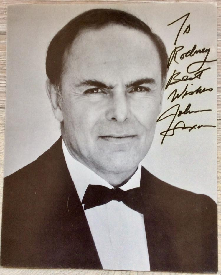 8X10 Autographed Photo of Noted American Actor John Saxon