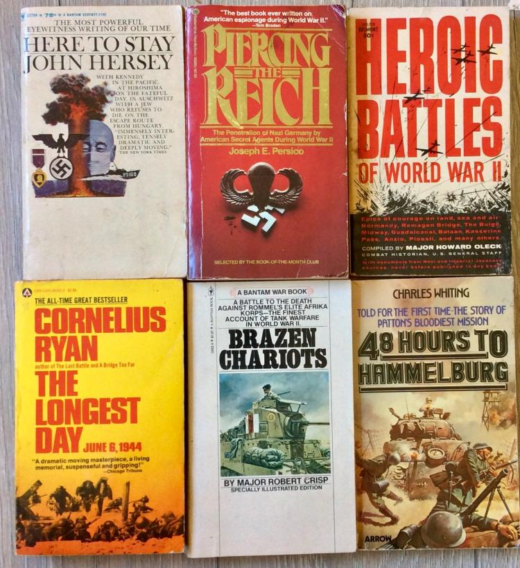 WWII Collection Of (6) VINTAGE Paperbacks On European Theater All are 1st Edition 1st Printings