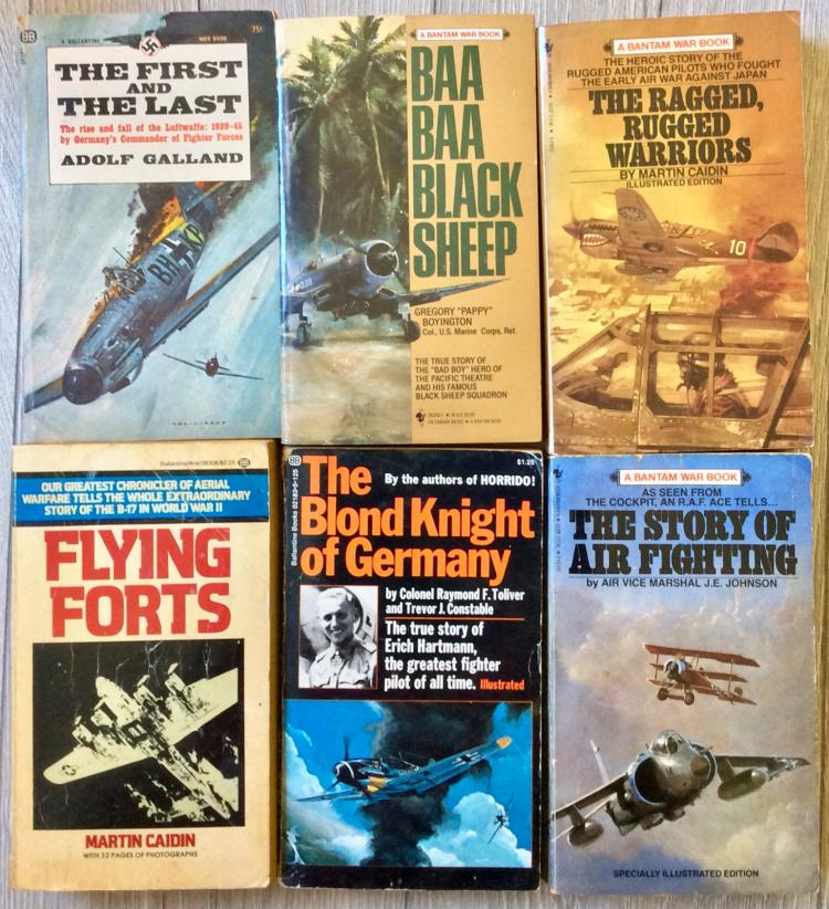 WWII Collection Of (6) VINTAGE Paperbacks On Aviation Warfare (2) are 1st Edition 1st Printings