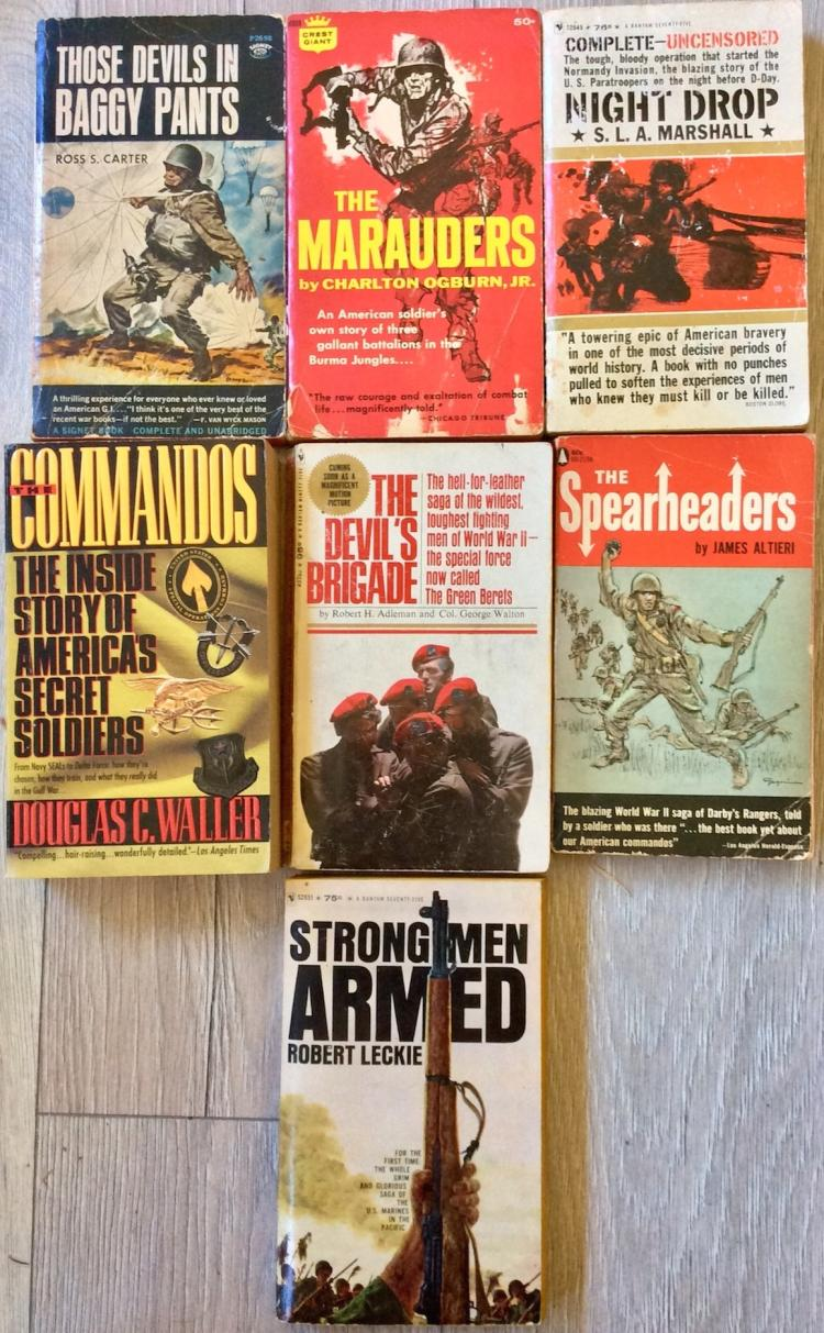 WWII Collection Of (7) VINTAGE Paperbacks On Special Troops (5) are 1st Edition 1st Printings