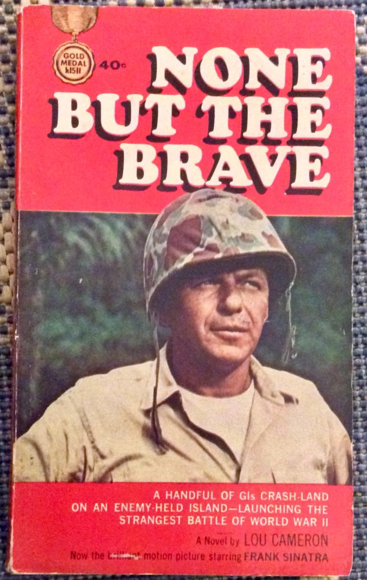 Scarce WWII PBO VINTAGE Military Fiction Paperback Frank Sinatra Movie Edition 1st Edition 1st Printing