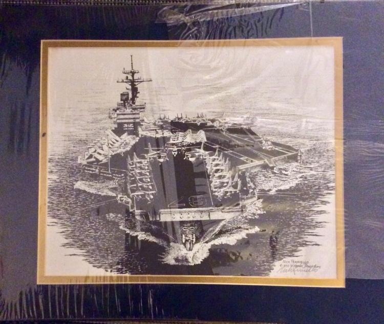 ORIGINAL 1992 Pencil Signed Nick Perriello Military Action Print 8 X 12 Matted Ready For Framing