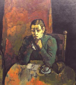Sarkis Sarkisian, (American, 1909-1977), oil on canvas, depicting a woman seated at a table in an interior, 44