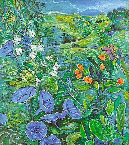 Arie Smit (B. 1916) Wildflowers in Hill Country