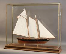 Model of the Schooner Yacht