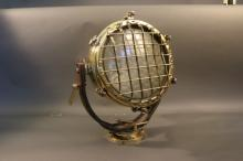 Ship's Cargo Floodlight of Solid Brass