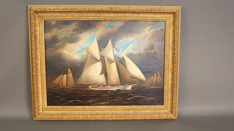 Yachting scene signed J. Buttersworth