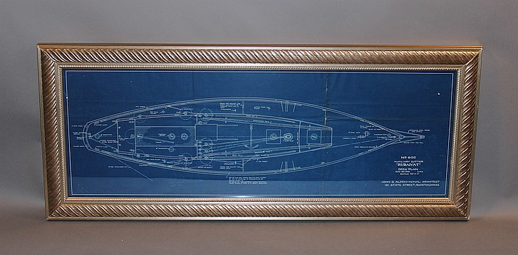 Original John Alden yacht blueprint