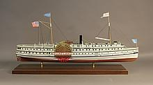 Scale model of the steamer Portland