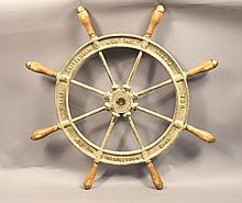 Wilcox Crittenden ship's wheel