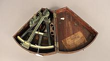 19th century navigators octant, Boston made.