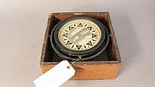 Boxed drycard compass by Dirigo