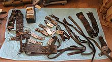 Diving weights and leather straps