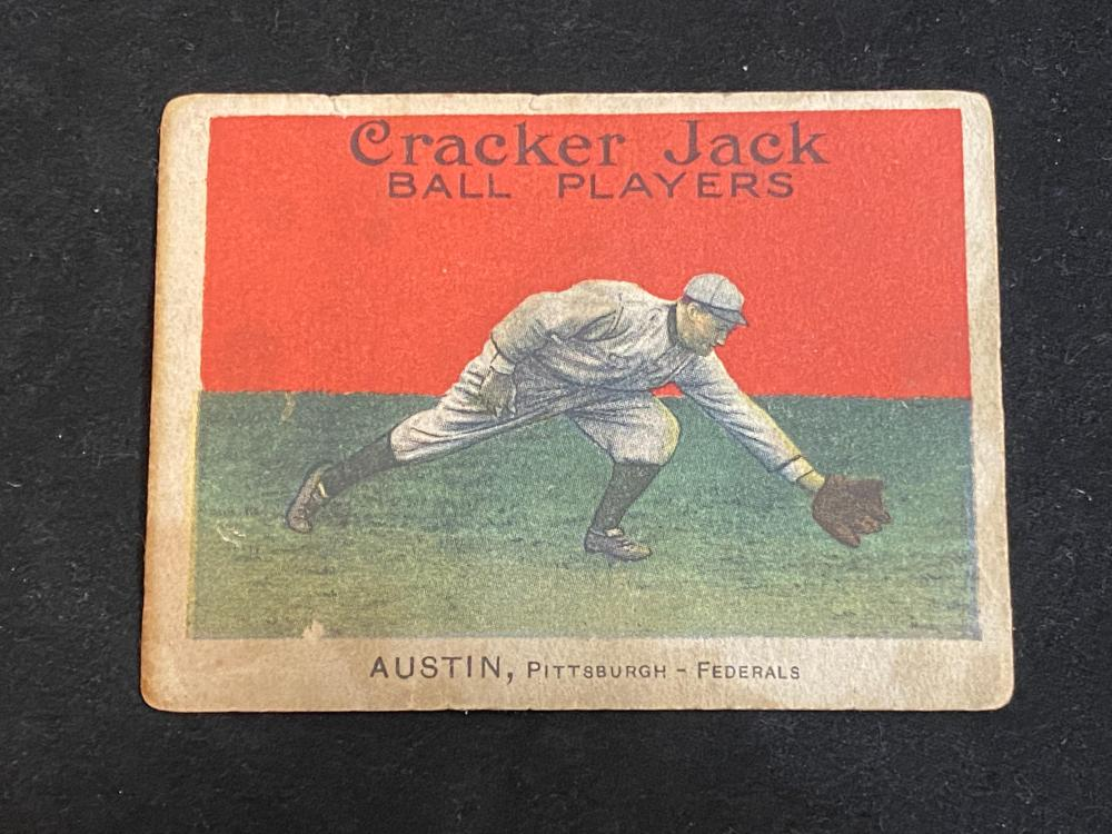 (G) 1915 E145-2 Cracker Jack Jimmy Austin #40 Baseball Card
