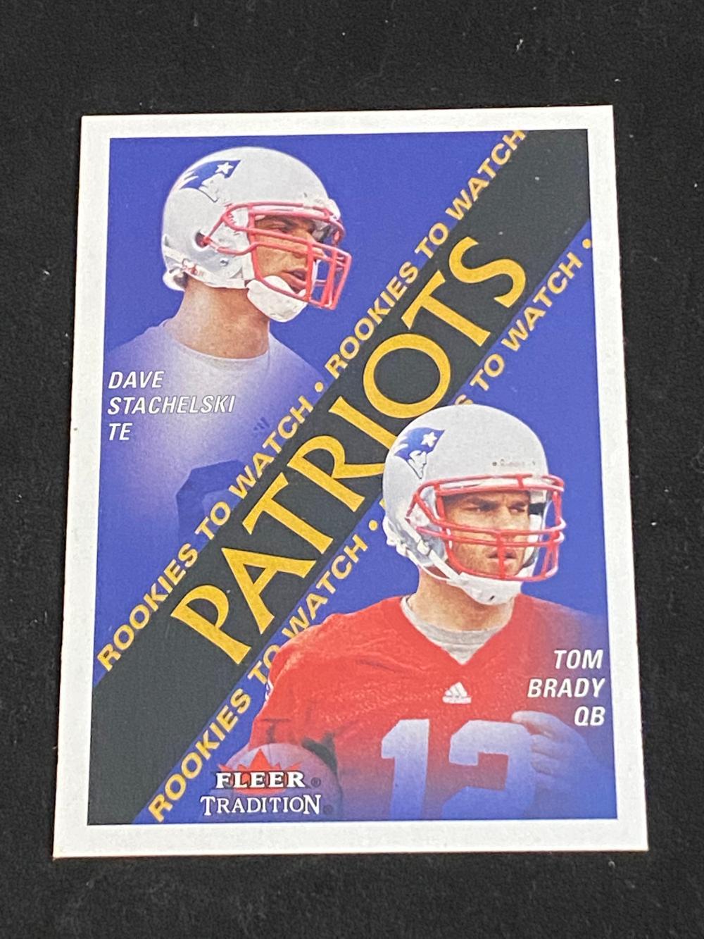 (Mint) 2000 Fleer Tom Brady Rookie #352 Football Card