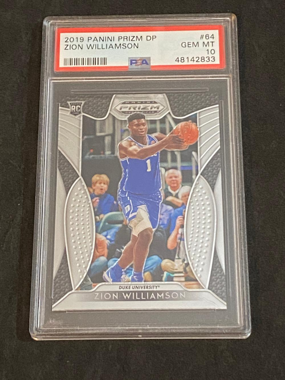 PSA 10 (Gem Mint) 2019-20 Panini Prizm Draft Picks RC Zion Williamson Rookie #64 Basketball Card