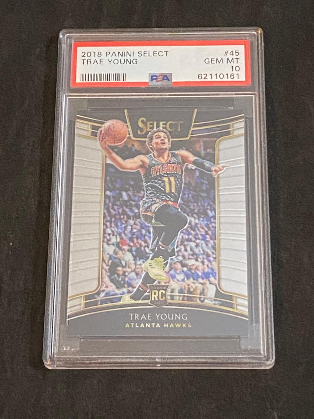 (PSA 10) Gem Mint 2018-19 Select RC Trae Young Rookie #45 Basketball Card