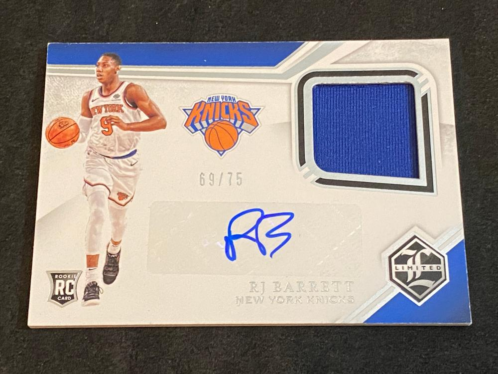 (69/75) 2019-20 Panini Chronicles RC Limited Auto Patch RJ Barrett #LR-RJB Basketball Card - Numbered /75