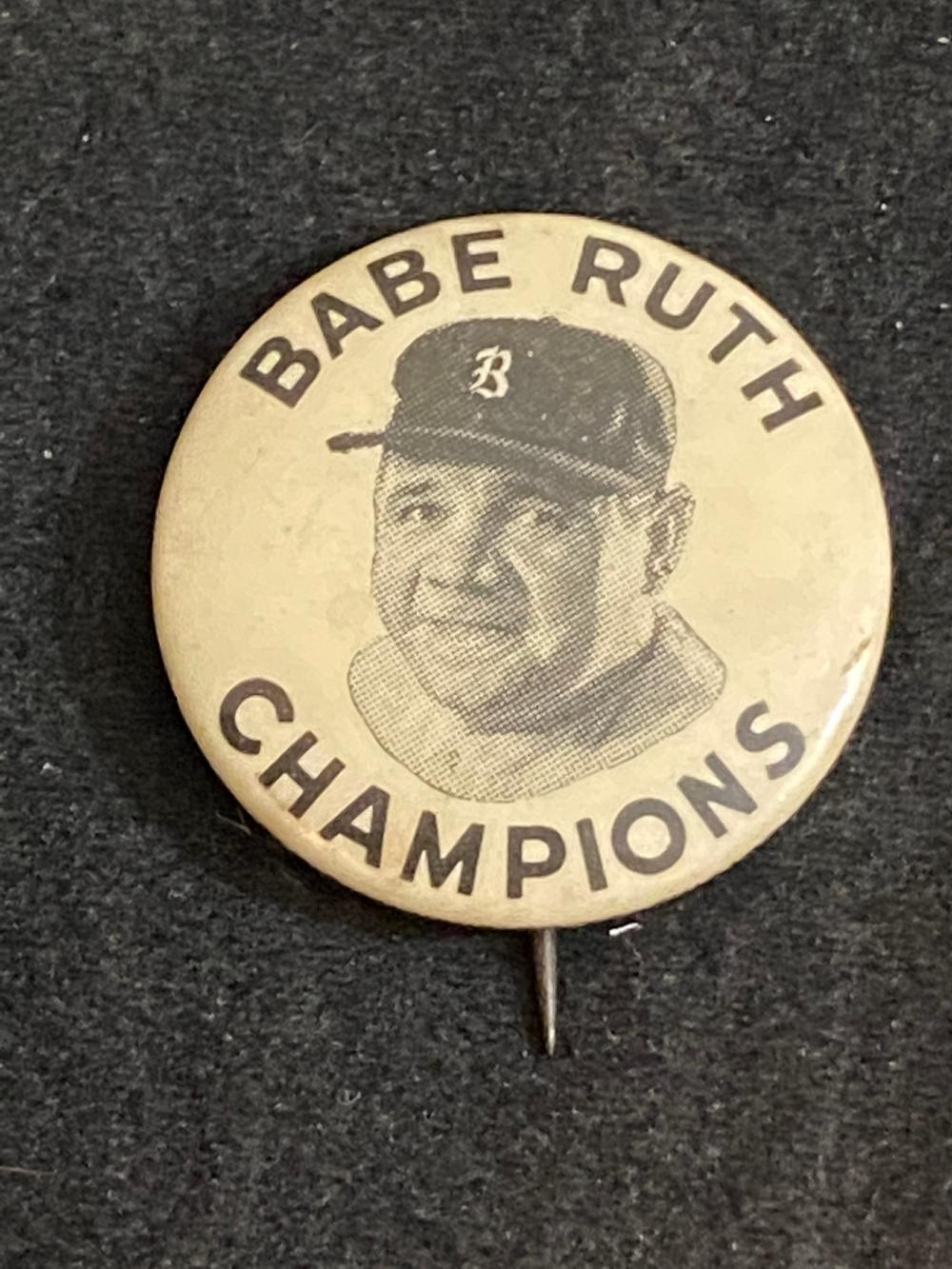 1935 Quaker Oats Babe Ruth Champions Pin