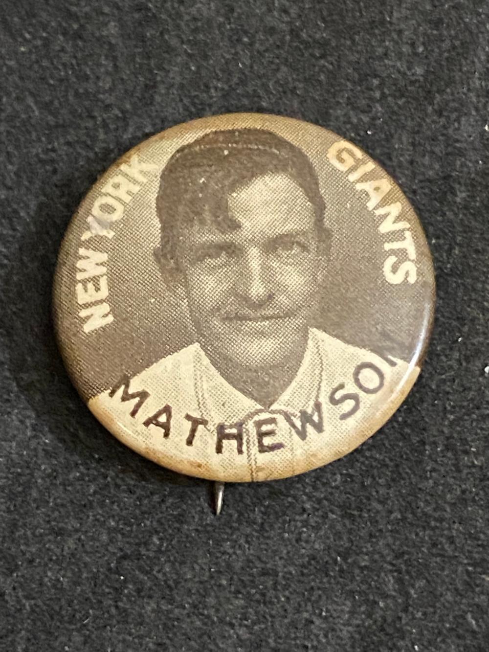 V1912 Sweet Caporal Christy Mathewson Pin - HOF (New York Giants)