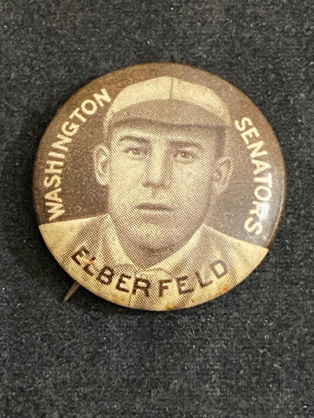 V1912 Sweet Caporal Kid Elberfeld Pin (Washington Senators)