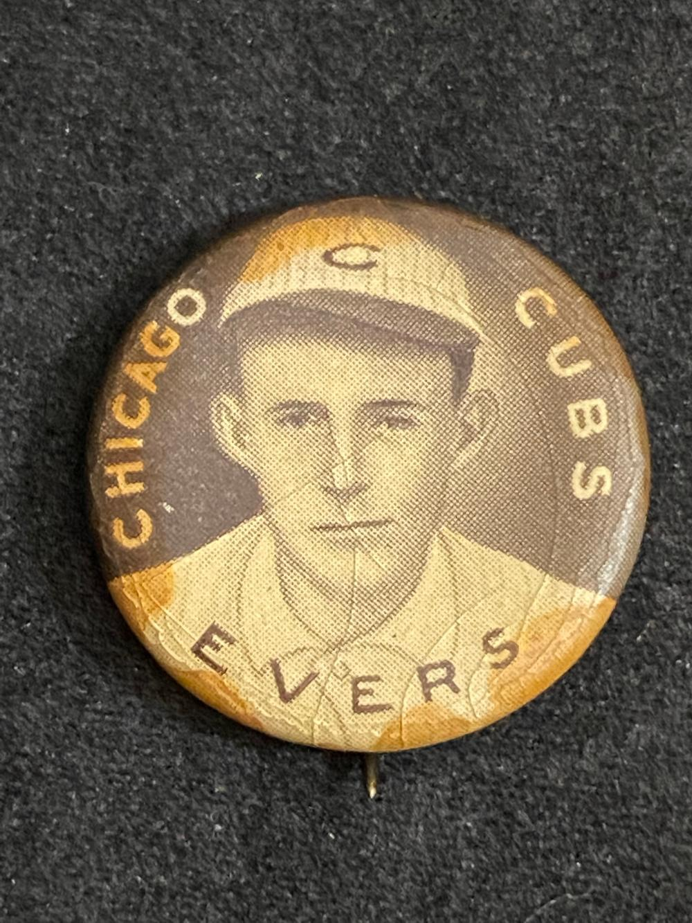 1912 Sweet Caporal Johnny Evers Pin - HOF (Washington Senators)